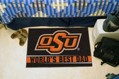 "Oklahoma State Cowboys Worlds Best Dad Starter Rug 19""x30"""