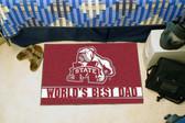 "Mississippi State Bulldogs Worlds Best Dad Starter Rug 19""x30"""