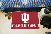 """Indiana Hoosiers Worlds Best Dad Starter Rug 19""""x30"""""""
