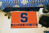 "Syracuse Orangemen Worlds Best Dad Starter Rug 19""x30"""