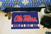 "Ole Miss Rebels Worlds Best Dad Starter Rug 19""x30"""