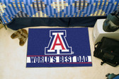 "Arizona Wildcats Worlds Best Dad Starter Rug 19""x30"""