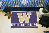 "Washington Huskies Worlds Best Dad Starter Rug 19""x30"""