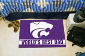 """Kansas State Wildcats Worlds Best Dad Starter Rug 19""""x30"""""""