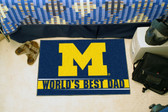 "Michigan Wolverines Worlds Best Dad Starter Rug 19""x30"""