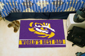 "LSU Tigers Worlds Best Dad Starter Rug 19""x30"""