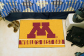"Minnesota Golden Gophers Worlds Best Dad Starter Rug 19""x30"""