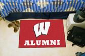 """Wisconsin Badgers Alumni Starter Rug 19""""x30"""""""