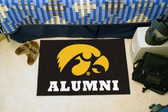 """Iowa Hawkeyes Alumni Starter Rug 19""""x30"""""""