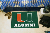 "Miami Hurricanes Alumni Starter Rug 19""x30"""