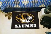 """Missouri Tigers Alumni Starter Rug 19""""x30"""""""
