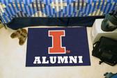 """Illinois Fighting Illini Alumni Starter Rug 19""""x30"""""""