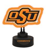 Oklahoma State Cowboys Team Logo Neon Lamp