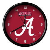 Alabama Crimson Tide Black Rim Clock - Basic
