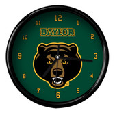 Baylor Bears Black Rim Clock - Basic