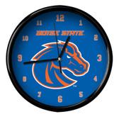 Boise State Broncos Black Rim Clock - Basic