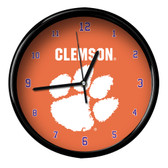 Clemson Tigers Black Rim Clock - Basic