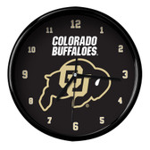 Colorado Buffaloes Black Rim Clock - Basic