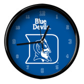 Duke Blue Devils Black Rim Clock - Basic