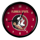 Florida State Seminoles Black Rim Clock - Basic