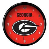 Georgia Bulldogs Black Rim Clock - Basic