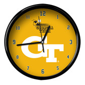 Georgia Tech Yellow Jackets Black Rim Clock - Basic