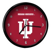 Indiana Hoosiers Black Rim Clock - Basic