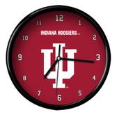 Indiana Hoosiers Black Rim Clock - Basic