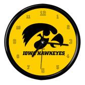 Iowa Hawkeyes Black Rim Clock - Basic