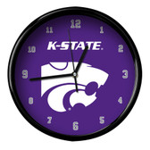 Kansas State Wildcats Black Rim Clock - Basic