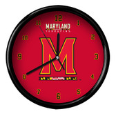 Maryland Terrapins Black Rim Clock - Basic
