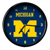 Michigan Wolverines Black Rim Clock - Basic