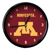 Minnesota Golden Gophers Black Rim Clock - Basic