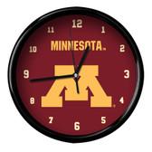 Minnesota Golden Gophers Black Rim Clock - Basic