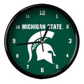 Michigan State Spartans Black Rim Clock - Basic