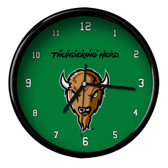 Marshall Thundering Herd Black Rim Clock - Basic