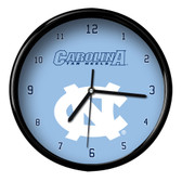 North Carolina Tar Heels Black Rim Clock - Basic