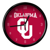 Oklahoma Sooners Black Rim Clock