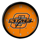 Oklahoma State Cowboys Black Rim Clock