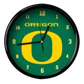 Oregon Ducks Black Rim Clock