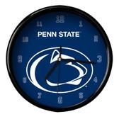 Penn State Nittany Lions Black Rim Clock