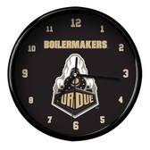 Purdue Boilermakers Black Rim Clock - Basic