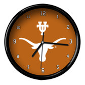 Texas Longhorns Black Rim Clock - Basic