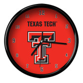 Texas Tech Red Raiders Black Rim Clock - Basic