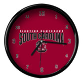 South Carolina Gamecocks Black Rim Clock - Basic