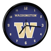 Washington Huskies Black Rim Clock - Basic
