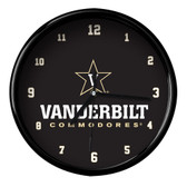 Vanderbilt Commodores Black Rim Clock - Basic