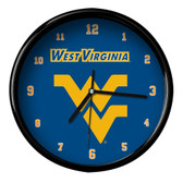 West Virginia Mountaineers Black Rim Clock
