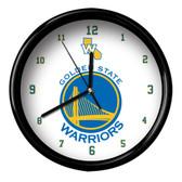 Golden State Warriors Logo Black Rim Clock