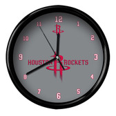 Houston Rockets Logo Black Rim Clock
